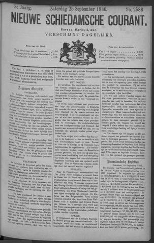 Nieuwe Schiedamsche Courant 1886-09-25