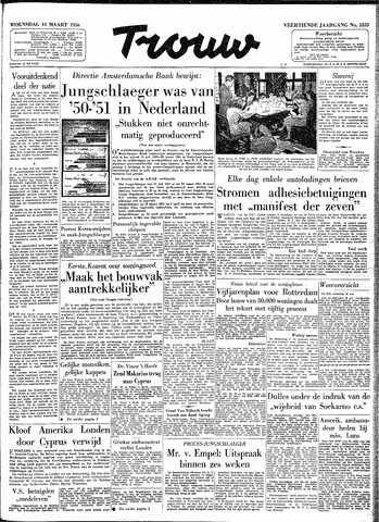 Trouw / De Rotterdammer 1956-03-14