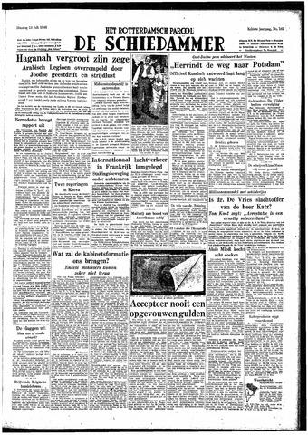 Rotterdamsch Parool / De Schiedammer 1948-07-13