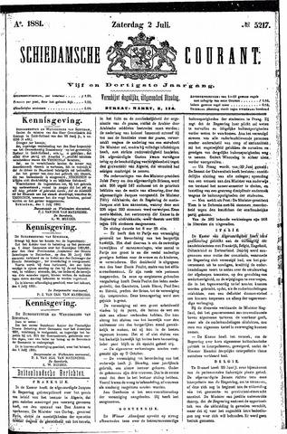 Schiedamsche Courant 1881-07-02