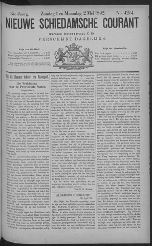 Nieuwe Schiedamsche Courant 1892-05-02
