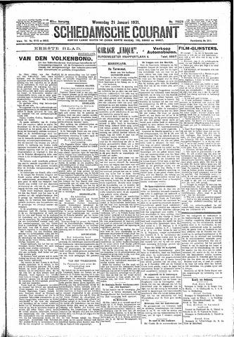 Schiedamsche Courant 1931-01-21