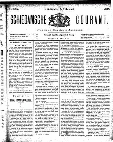 Schiedamsche Courant 1885-02-05