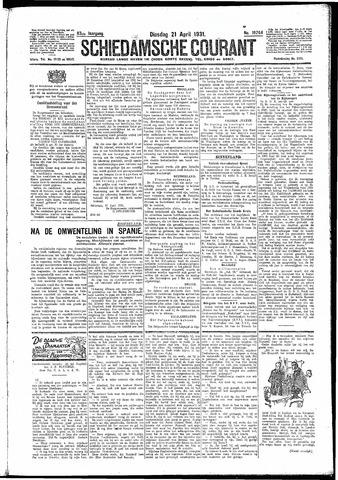 Schiedamsche Courant 1931-04-21