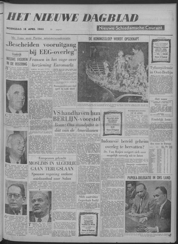 Nieuwe Schiedamsche Courant 1962-04-18