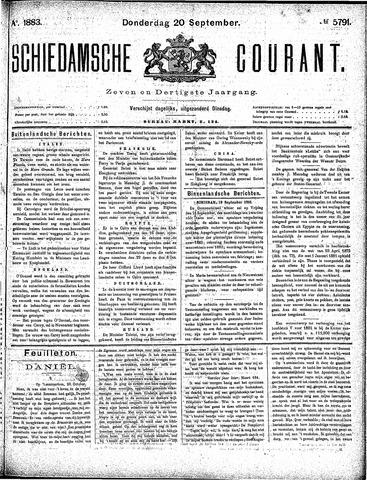 Schiedamsche Courant 1883-09-20