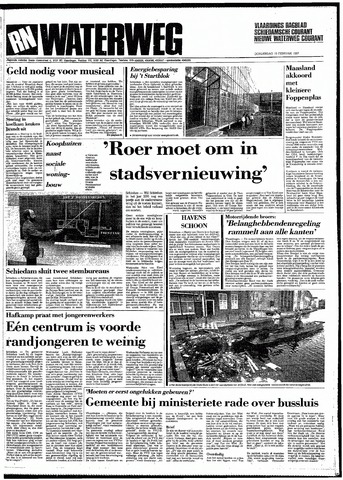 Rotterdamsch Nieuwsblad / Schiedamsche Courant / Rotterdams Dagblad / Waterweg / Algemeen Dagblad 1987-02-19