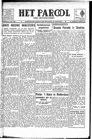 Rotterdamsch Parool / De Schiedammer 1945-06-26