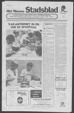 Het Nieuwe Stadsblad 1972-07-19