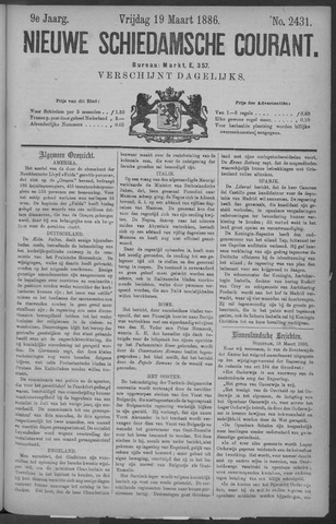 Nieuwe Schiedamsche Courant 1886-03-19