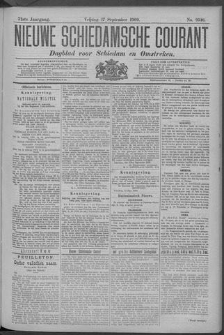 Nieuwe Schiedamsche Courant 1909-09-17