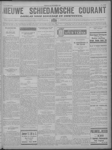 Nieuwe Schiedamsche Courant 1929-10-25