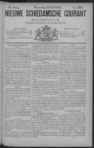 Nieuwe Schiedamsche Courant 1892-07-13