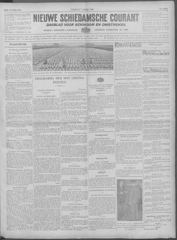 Nieuwe Schiedamsche Courant 1933-04-07