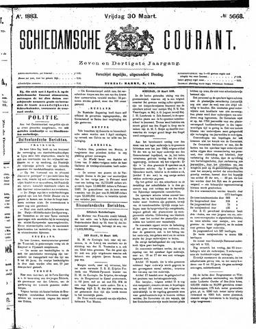 Schiedamsche Courant 1883-03-30