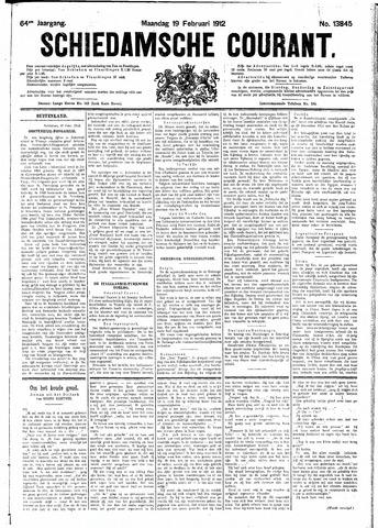 Schiedamsche Courant 1912-02-19