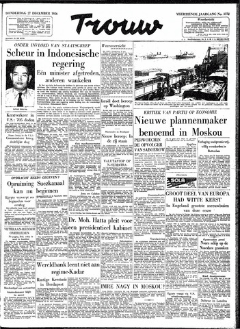 Trouw / De Rotterdammer 1956-12-27