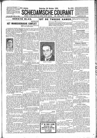 Schiedamsche Courant 1931-10-24