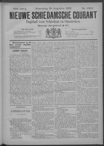 Nieuwe Schiedamsche Courant 1892-08-24