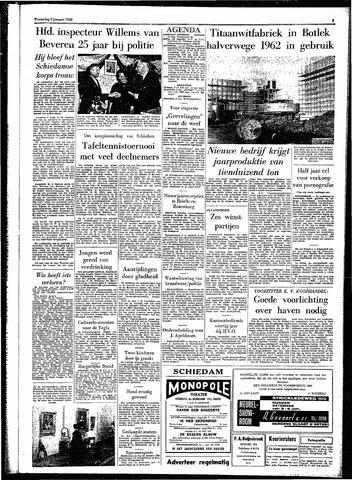 Rotterdamsch Parool / De Schiedammer 1962-01-03