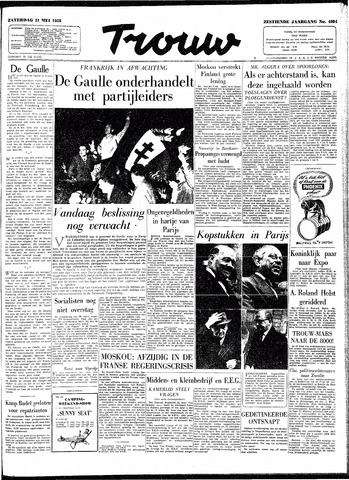 Trouw / De Rotterdammer 1958-05-31