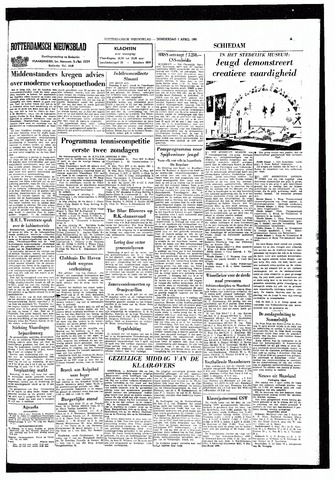 Rotterdamsch Nieuwsblad / Schiedamsche Courant / Rotterdams Dagblad / Waterweg / Algemeen Dagblad 1965-04-01