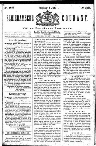 Schiedamsche Courant 1881-07-01