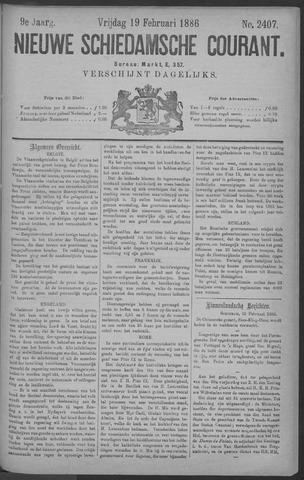 Nieuwe Schiedamsche Courant 1886-02-19
