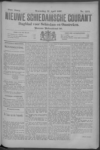 Nieuwe Schiedamsche Courant 1897-04-21