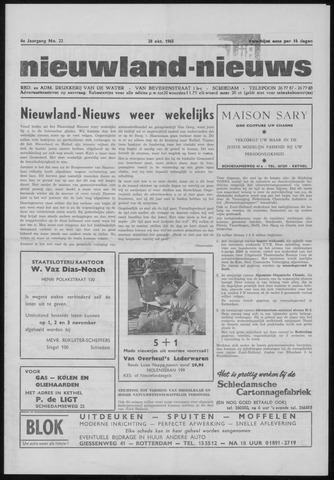 Nieuwland Nieuws 1965-10-28