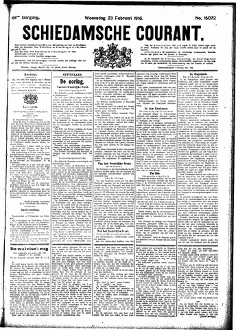 Schiedamsche Courant 1916-02-23