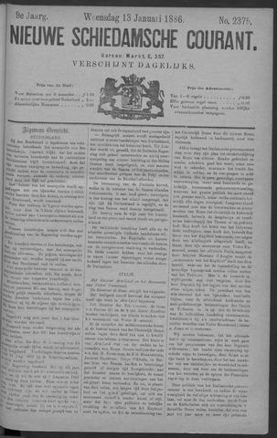 Nieuwe Schiedamsche Courant 1886-01-13