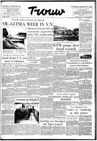 Trouw / De Rotterdammer 1957-02-25