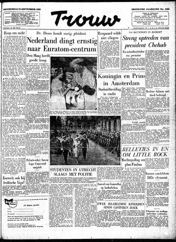 Trouw / De Rotterdammer 1958-09-25