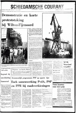 Rotterdamsch Nieuwsblad / Schiedamsche Courant / Rotterdams Dagblad / Waterweg / Algemeen Dagblad 1970-02-12