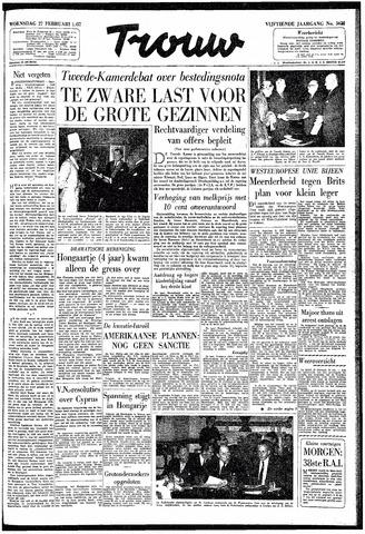 Trouw / De Rotterdammer 1957-02-27
