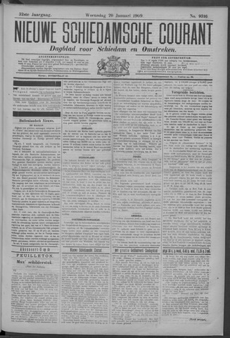 Nieuwe Schiedamsche Courant 1909-01-20