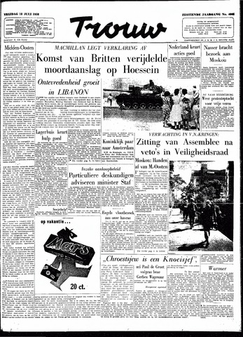 Trouw / De Rotterdammer 1958-07-18
