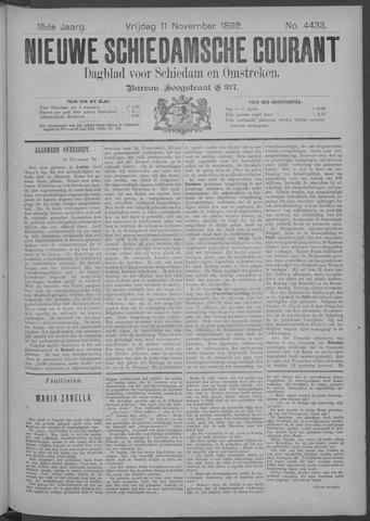 Nieuwe Schiedamsche Courant 1892-11-11