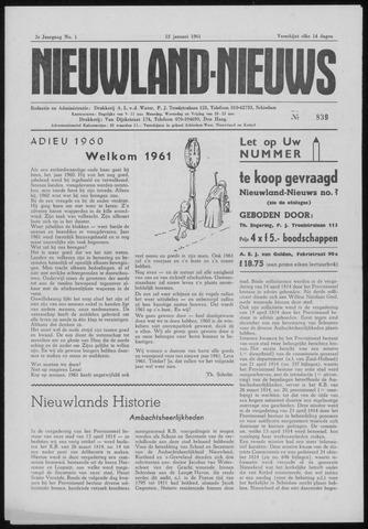 Nieuwland Nieuws 1961