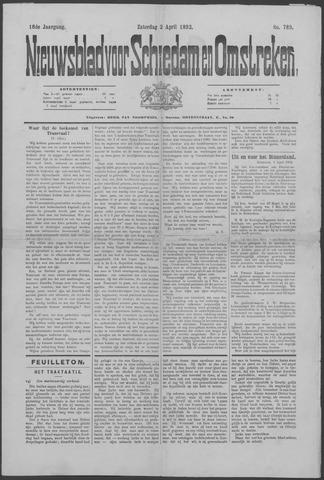 Nieuwsblad voor Schiedam en Omstreken 1892-04-02
