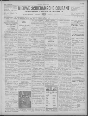 Nieuwe Schiedamsche Courant 1933-03-01