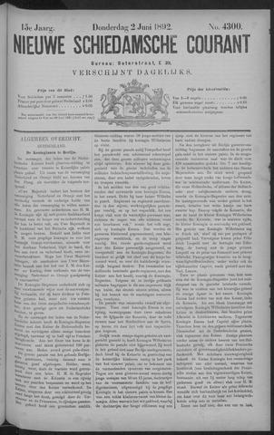 Nieuwe Schiedamsche Courant 1892-06-02