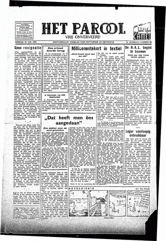 Rotterdamsch Parool / De Schiedammer 1945-06-19