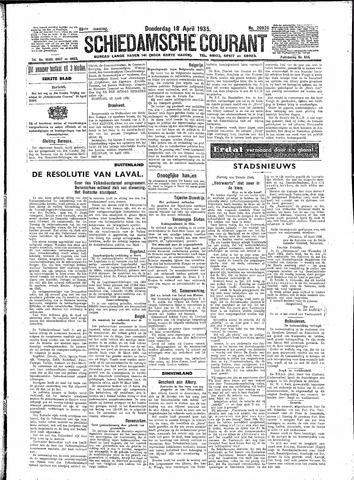 Schiedamsche Courant 1935-04-18