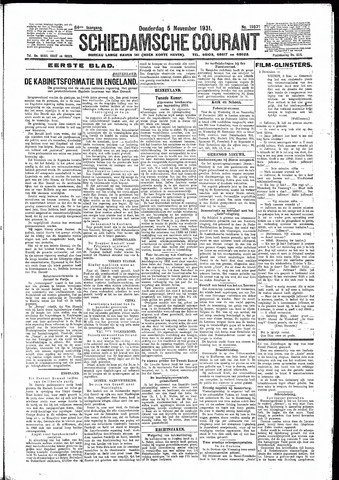 Schiedamsche Courant 1931-11-05