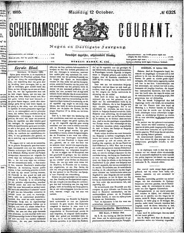Schiedamsche Courant 1885-10-12