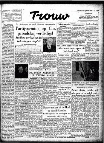 Trouw / De Rotterdammer 1954-10-07