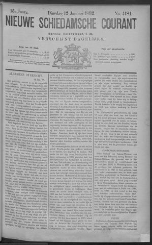 Nieuwe Schiedamsche Courant 1892-01-12