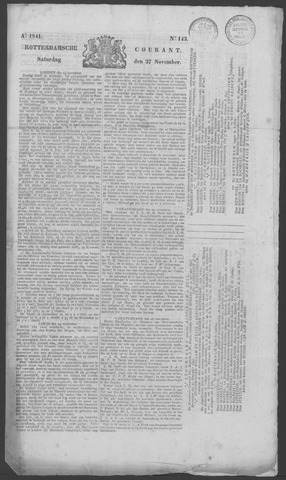 Rotterdamse Courant 1841-11-27